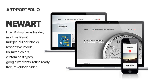 NewArt - Stylish Art & Portfolio Theme
